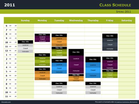 Mod le powerpoint et impress emploi du temps de classes - Open office impress telecharger gratuit ...