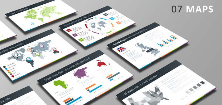 Free PowerPoint Template - Maps