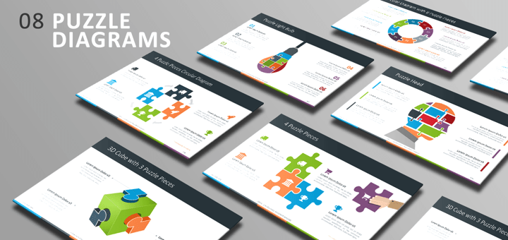 Free PowerPoint Template - Puzzle Diagrams