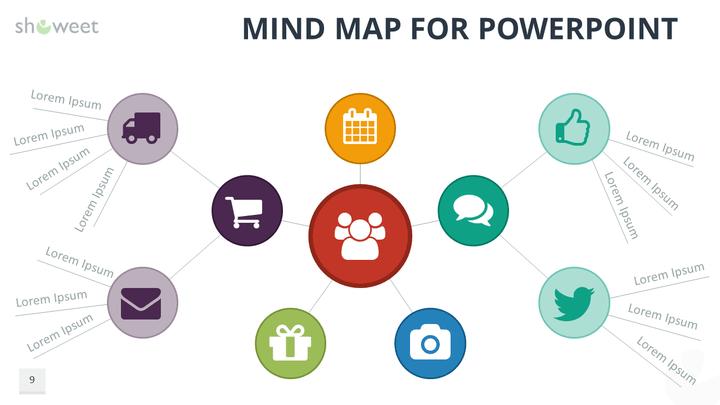 Carte Heuristique Powerpoint.Modeles De Cartes Heuristiques Mind Maps Pour Powerpoint