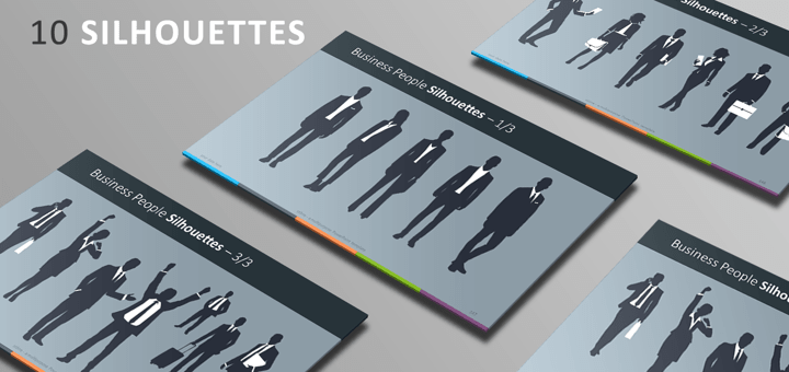 Free PowerPoint Template - Silhouettes