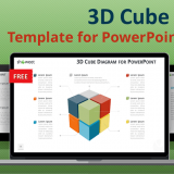 Free 3D cube diagram for PowerPoint and Keynote