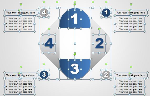 Diagrama Papel 3D PowerPoint - Gráficos editables