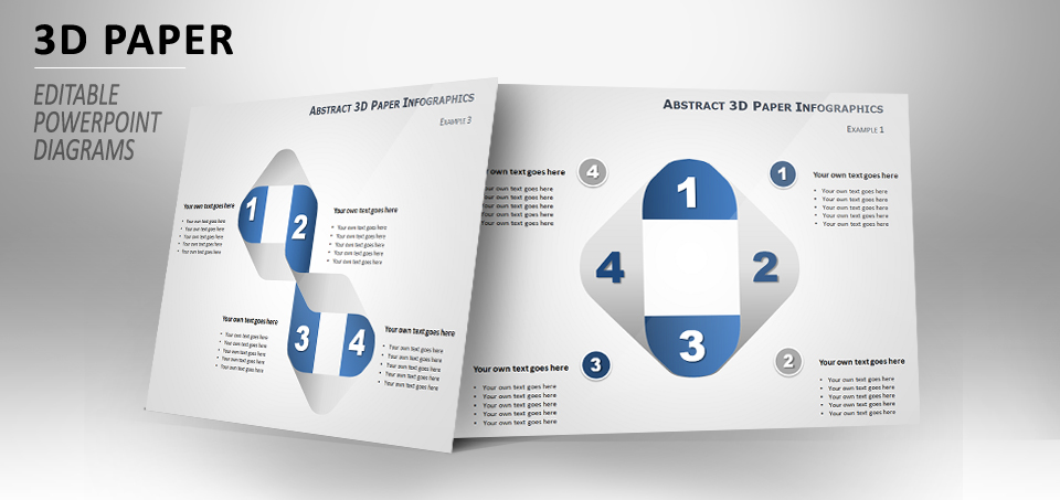 3d paper diagram for powerpoint