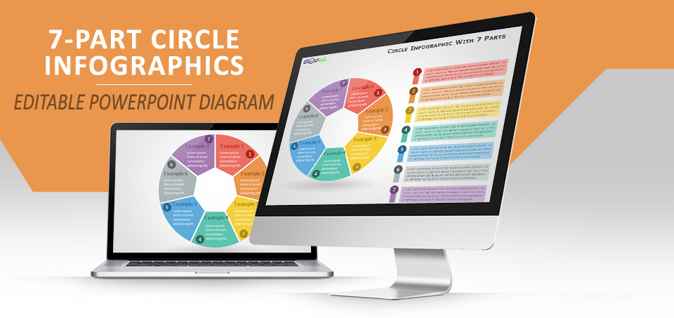 7-parts circle infographics for powerpoint
