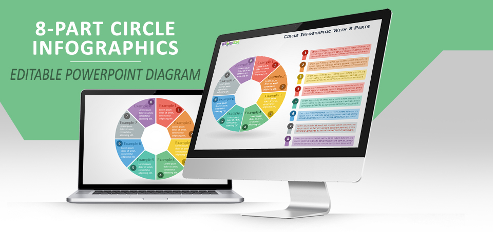 8-parts circle infographics for powerpoint