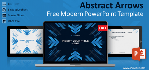 Free Abstract Arrows Modern PowerPoint Template