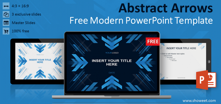 Abstract arrows powerpoint template toneelgroepblik