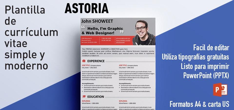 Astoria Curriculum Vitae gratis para PowerPoint
