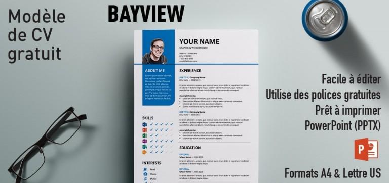 Bayview Modèle de CV PowerPoint Gratuit