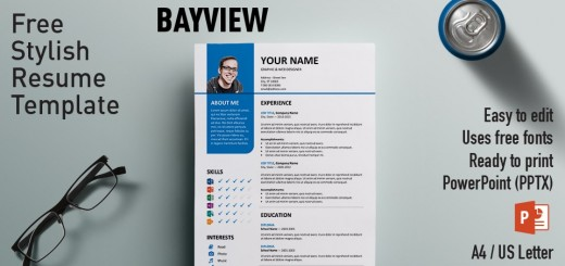 Clean Resume/Cv Template For Powerpoint