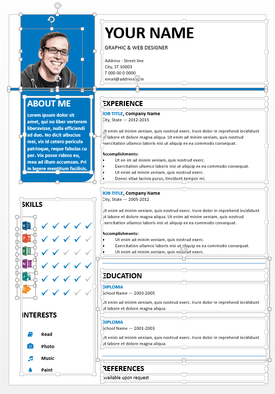 bayview editable free resume for powerpoint