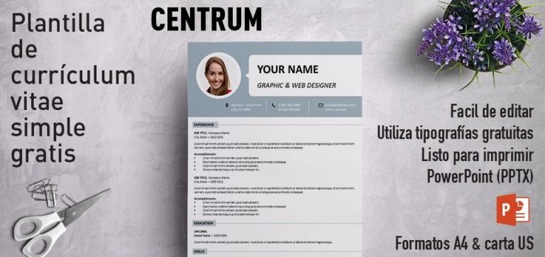 Centrum Curriculum Vitae PowerPoint