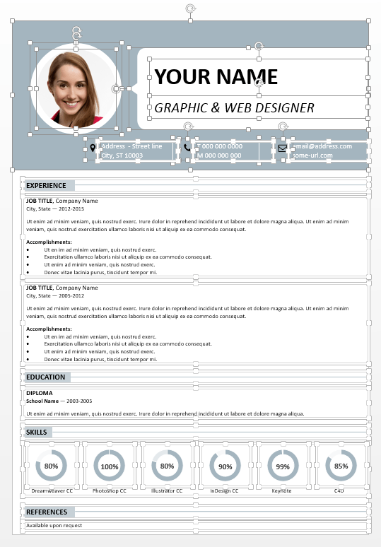 Centrum Fully Editable Resume For PowerPoint  Powerpoint Resume