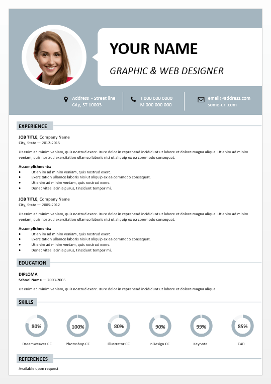 centrum simple powerpoint resume template, Modern powerpoint