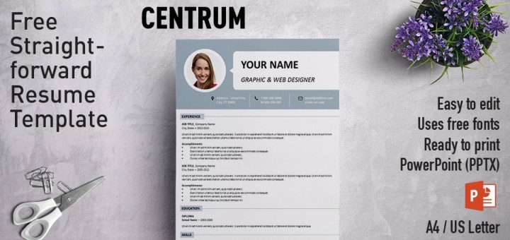 best powerpoint resume templates curriculum vitae template free simple