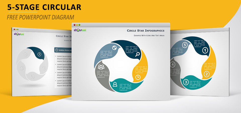 Circle star diagram for PowerPoint