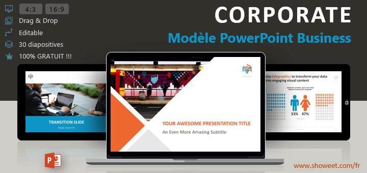 Populaire Corporate - Modèle PowerPoint Business XE27