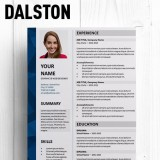Dalston Elegant Free Resume Template