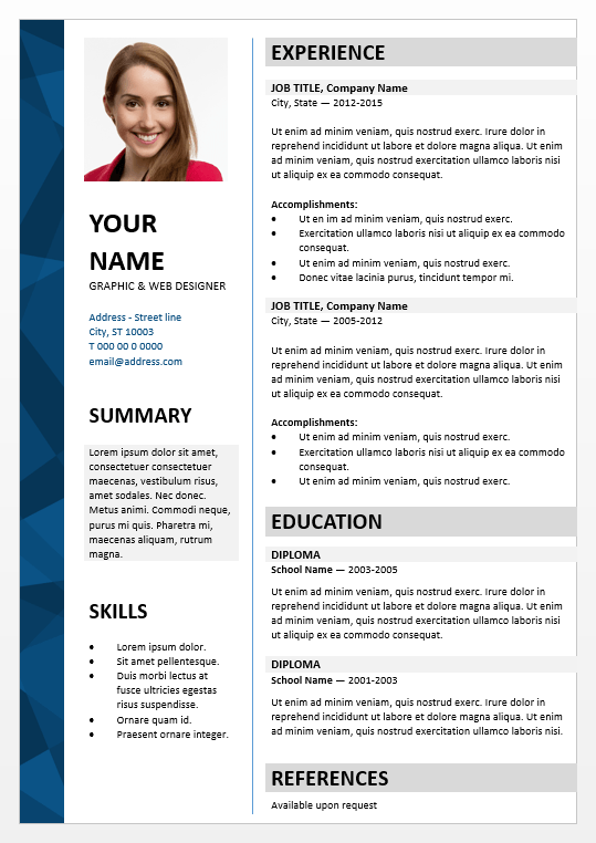 dalston elegant powerpoint resume template