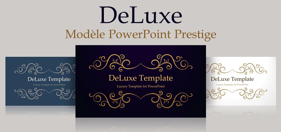 DeLuxe - Modèle Gratuit Luxe et Prestige pour PowerPoint