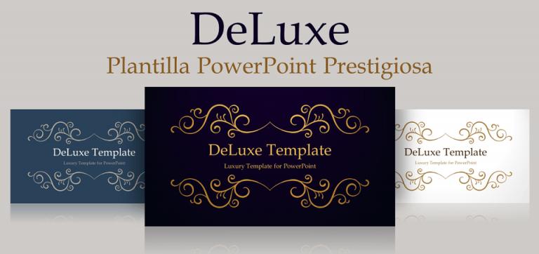 DeLuxe Plantilla Gratis PowerPoint de Lujo y Prestigio