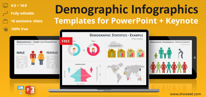 Free collection of demographic infographic elements for PowerPoint and ...