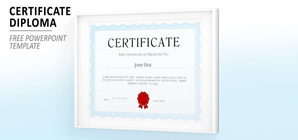 Powerpoint certificate diploma template for Certificate template powerpoint