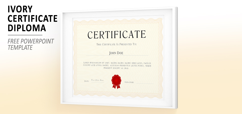 Ivory Powerpoint Certificate Diploma Template