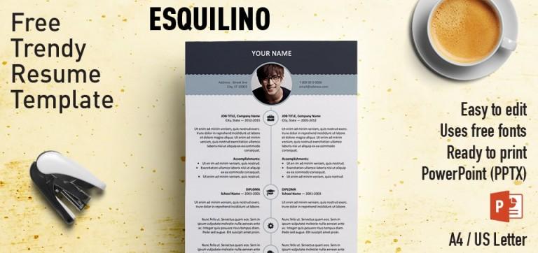 Esquilino Free Modern Resume Template