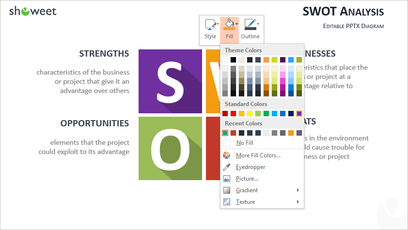 PowerPoint shape - add your own color