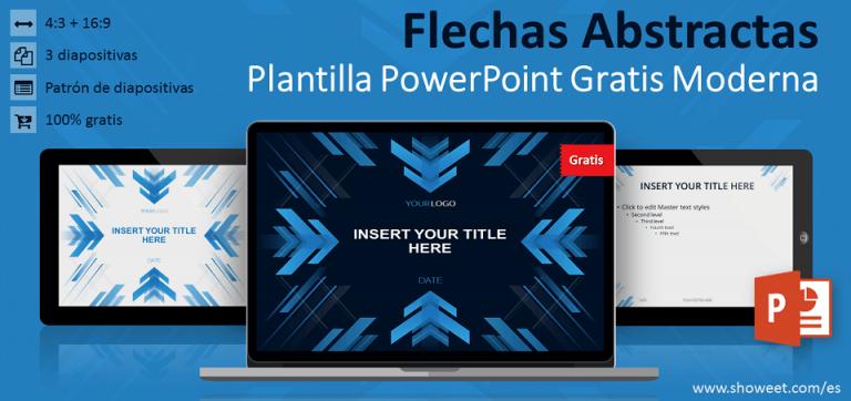 Plantilla gratis PowerPoint moderna con flechas abstractas