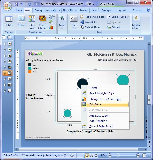 ge/mckinsey matrix for powerpoint, Modern powerpoint