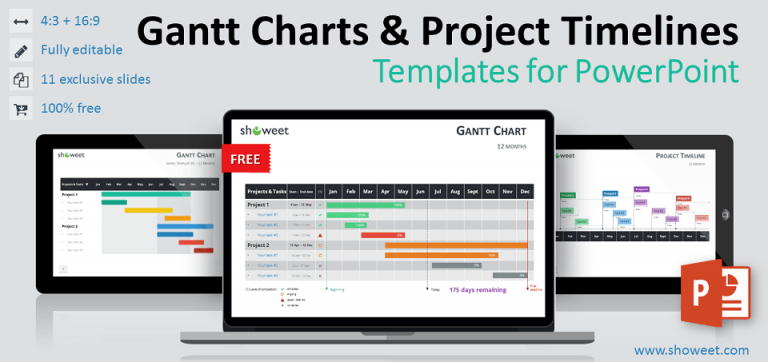 Free Gantt Charts and Project Timelines for PowerPoint