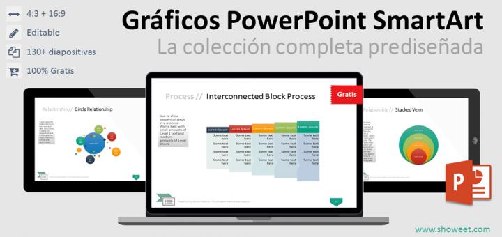 gráficos powerpoint smartart colección completa