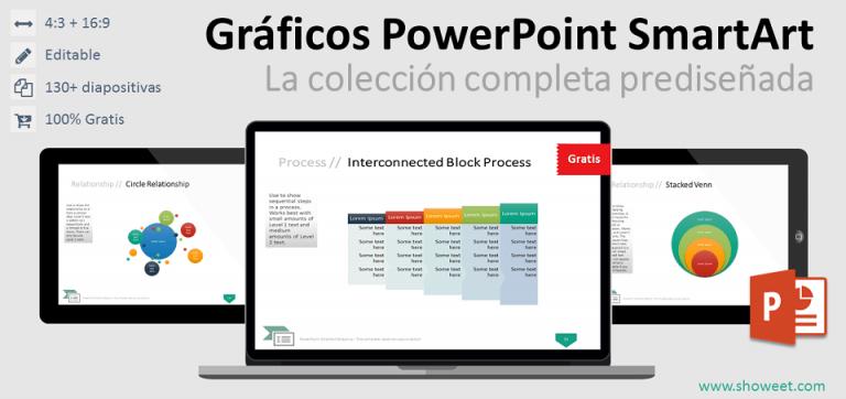 Colección gratuita completa de gráficos PowerPoint SmartArt