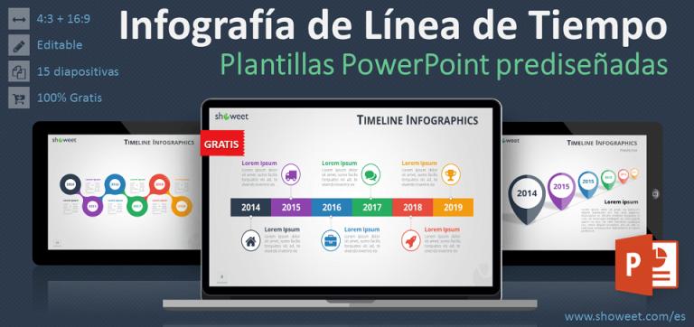 Modelos gratis de línea de tiempo (o « timeline ») para PowerPoint
