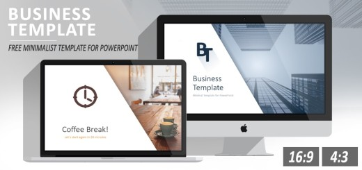 Free minimal business PowerPoint template