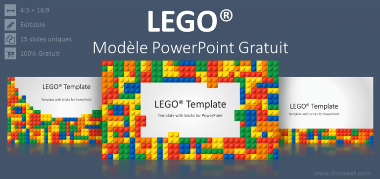 Modèle gratuit PowerPoint LEGO