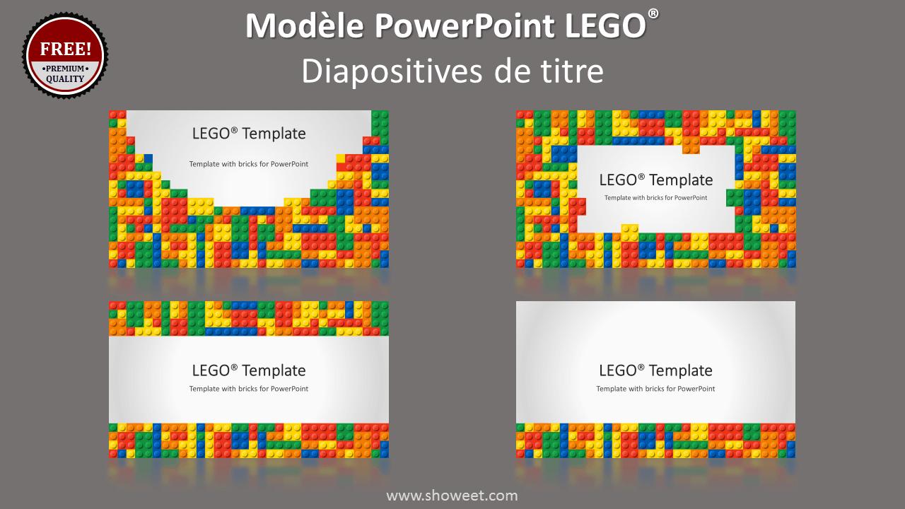 Modèle PowerPoint LEGO - Diapositives de couverture