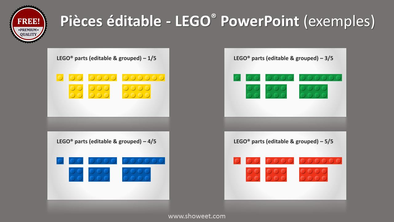 Modèle PowerPoint LEGO avec pièces éditables