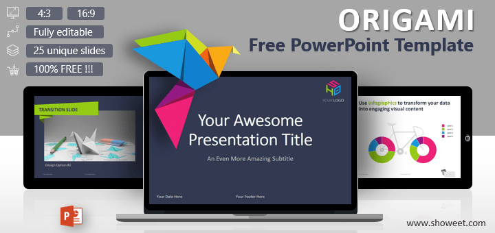 Origami creative powerpoint template origami free creative and colorful powerpoint template toneelgroepblik Images