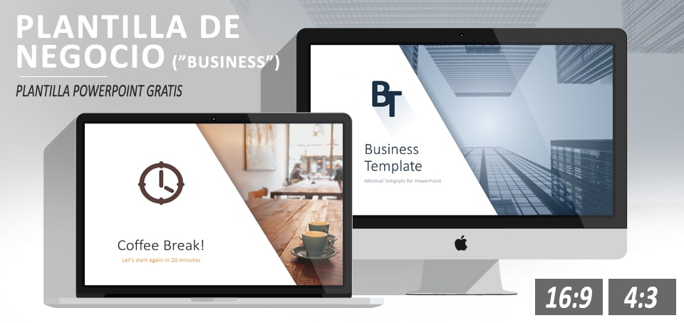 Plantilla de negocio minimalista para PowerPoint gratis