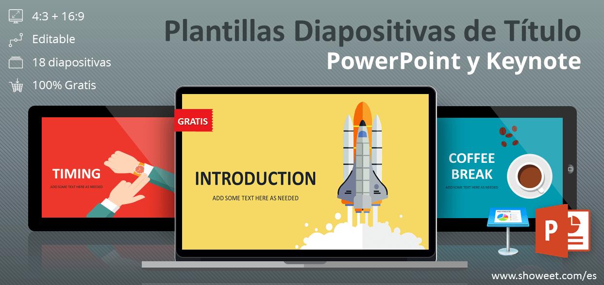Colección gratuita de plantillas de diapositivas de título para PowerPoint y Keynote