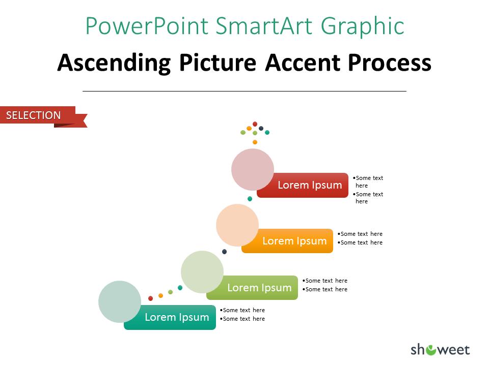 PowerPoint SmarArt Graphic - Ascending Picture Accent Process