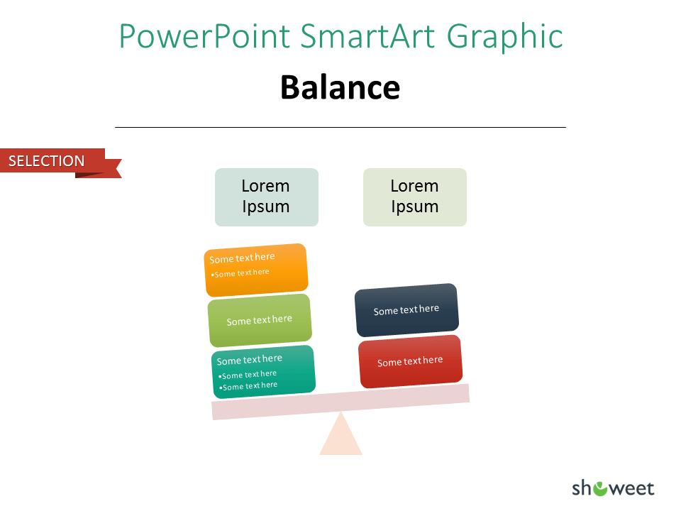 PowerPoint SmarArt Graphic - Balance