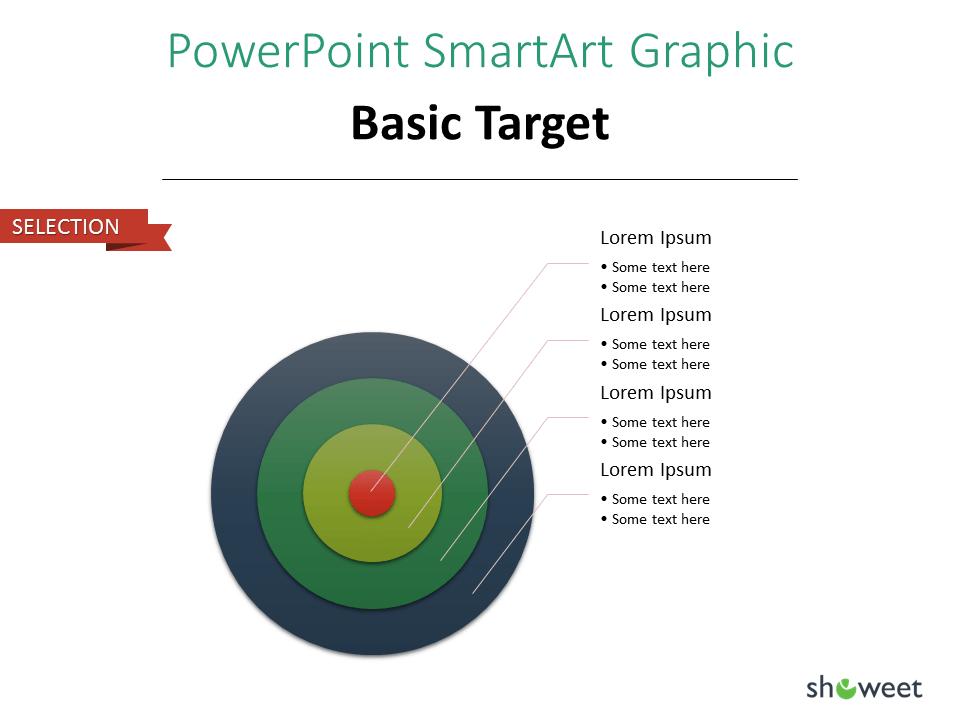 PowerPoint SmarArt Graphic - Basic Target