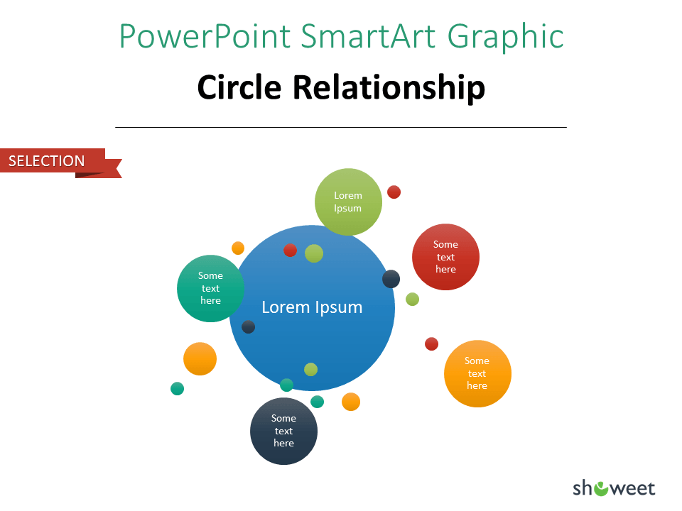 PowerPoint SmarArt Graphic - Circle Relationship