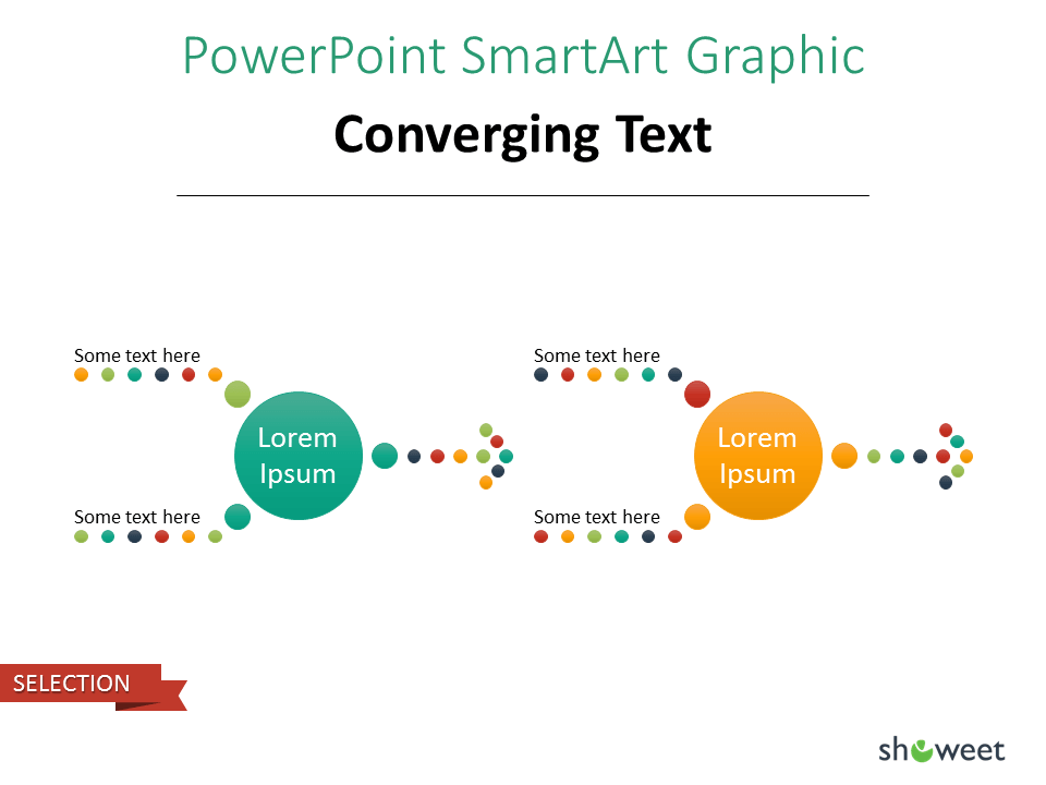 PowerPoint SmarArt Graphic - Converging Text