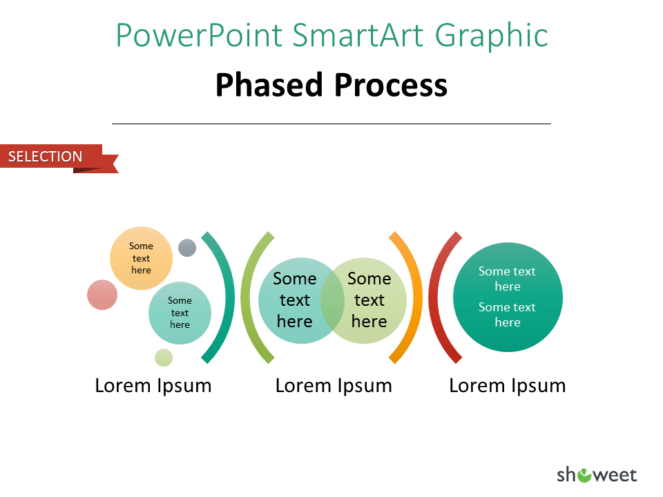 PowerPoint SmarArt Graphic - Phased Process